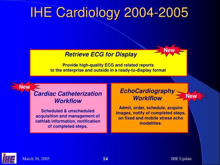 IHE Cardiology 2004-2005