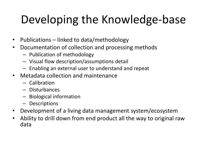 Developing the Knowledge-base