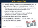 works with emi
