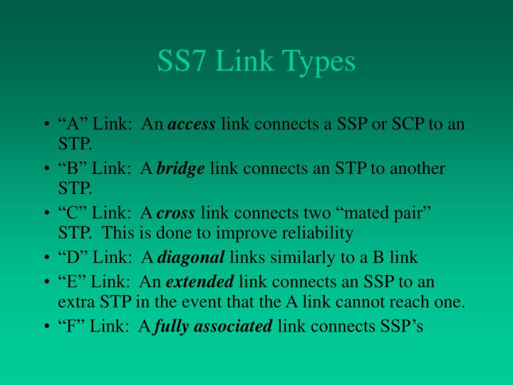 SS7 Link Types