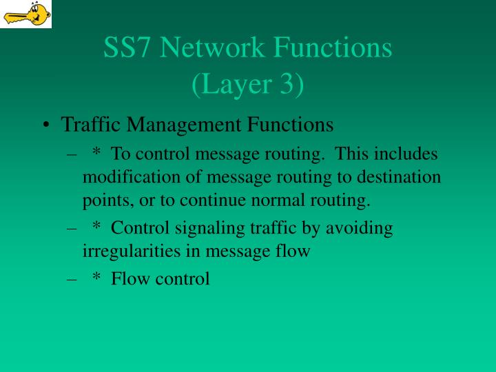 SS7 Network Functions