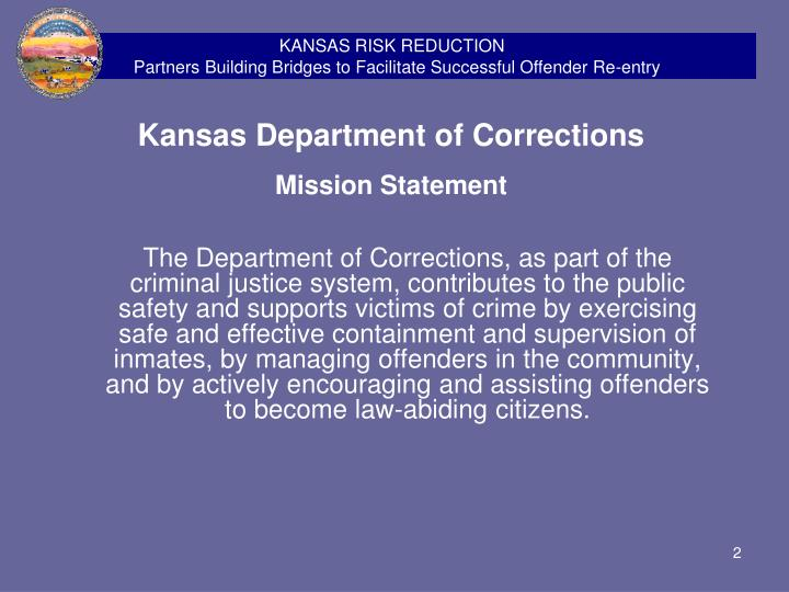 KANSAS RISK REDUCTION