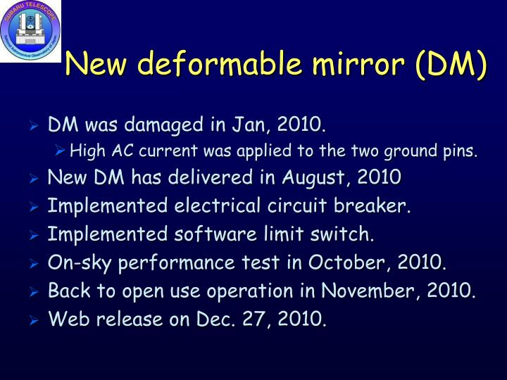 New deformable mirror (DM)