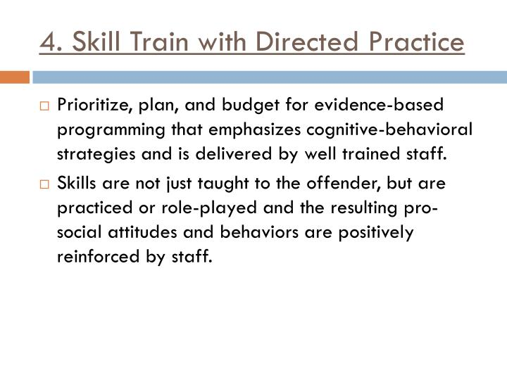 4. Skill Train with Directed Practice