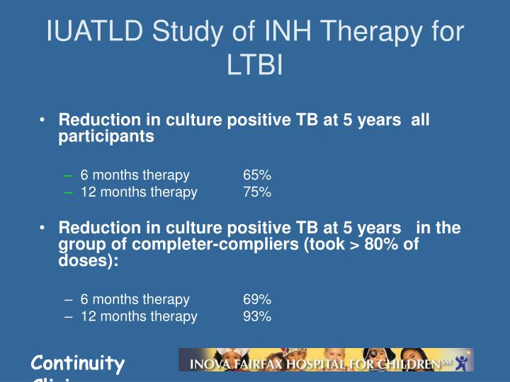 IUATLD Study of INH Therapy for LTBI