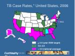 tb case rates united states 2006