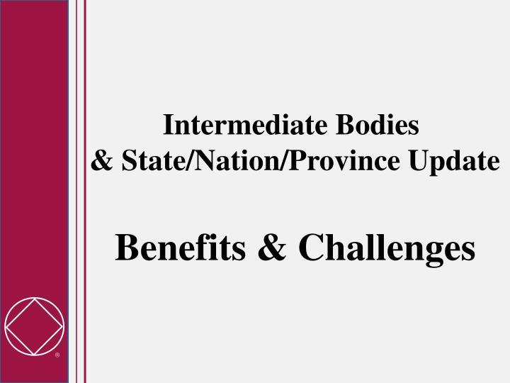 Intermediate Bodies