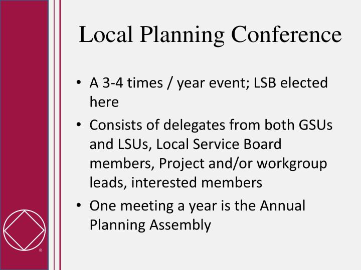 Local Planning Conference