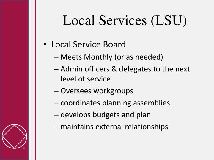 Local Services (LSU)
