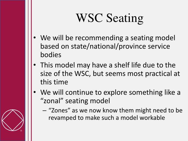 WSC Seating