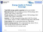 energy audits in finland coverage
