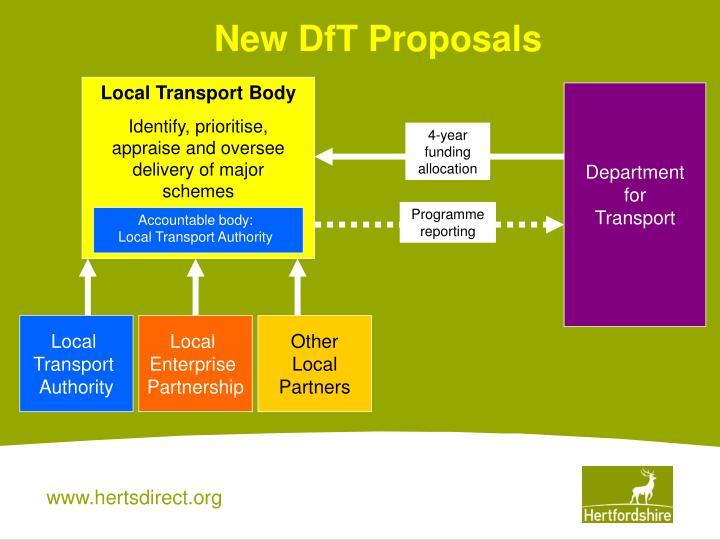 New DfT Proposals