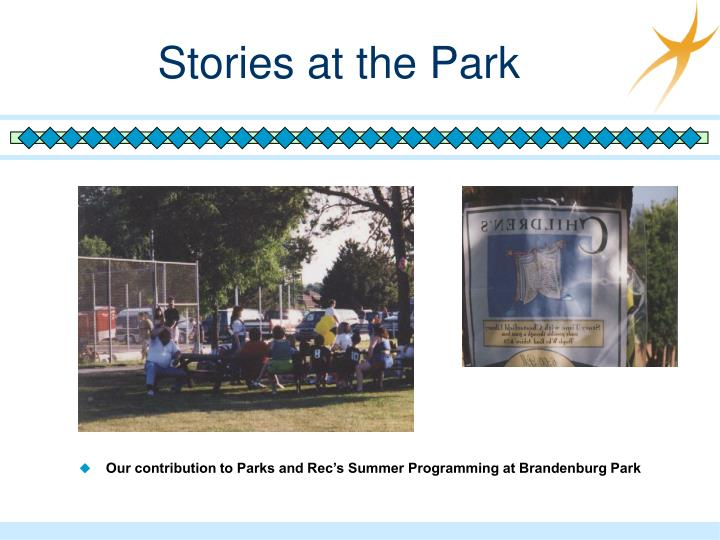 Stories at the Park