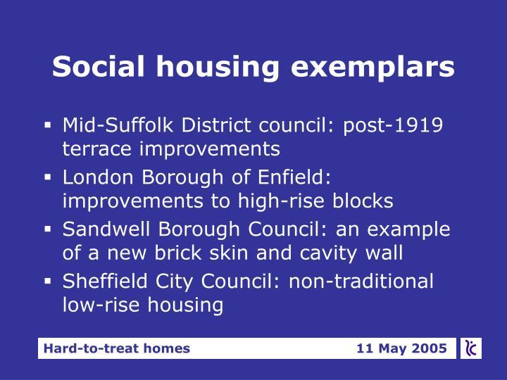 Social housing exemplars