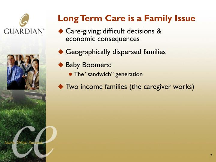 Long Term Care is a Family Issue