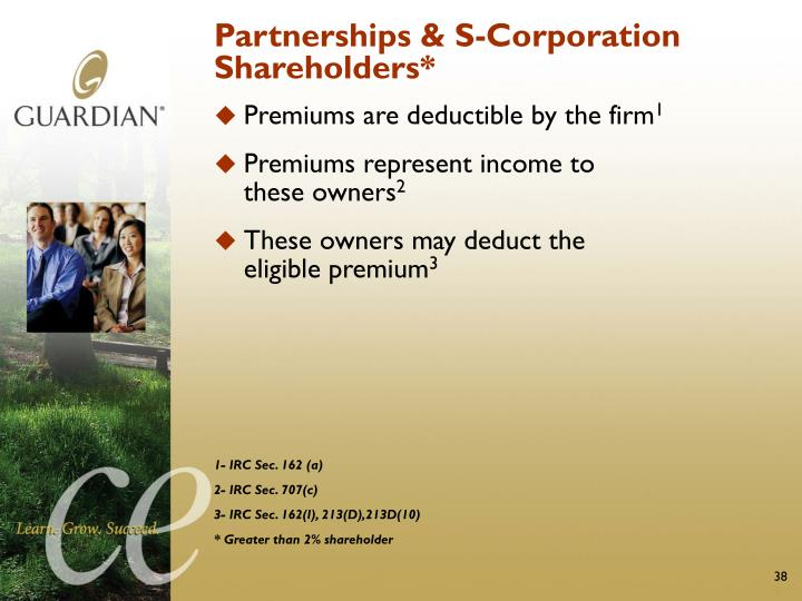Partnerships & S-Corporation Shareholders*