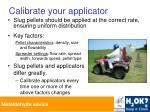 calibrate your applicator