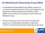 the metaldehyde stewardship group msg