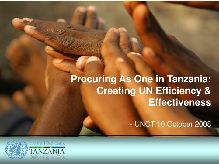 Procuring As One in Tanzania: