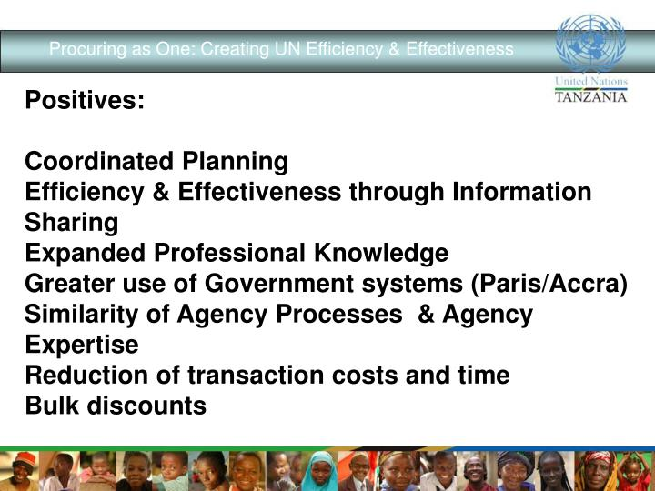 Procuring as One: Creating UN Efficiency & Effectiveness