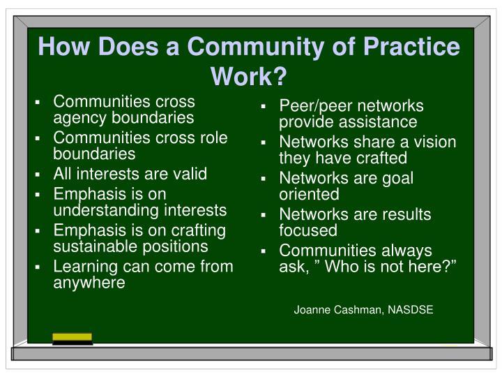 Communities cross agency boundaries