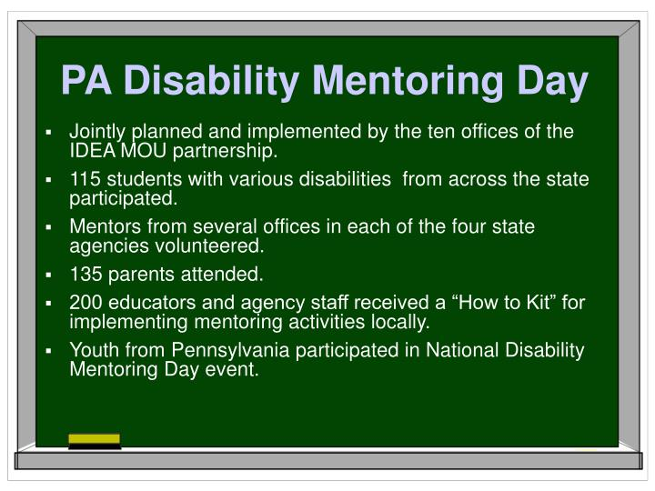 PA Disability Mentoring Day