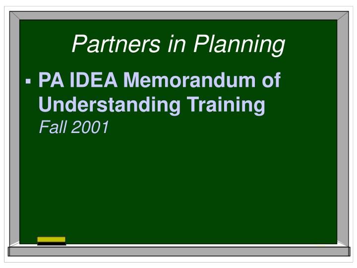 Partners in Planning