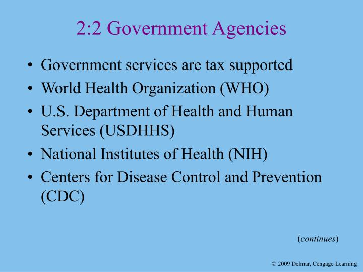 2:2 Government Agencies