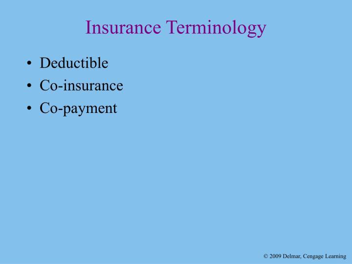 Insurance Terminology
