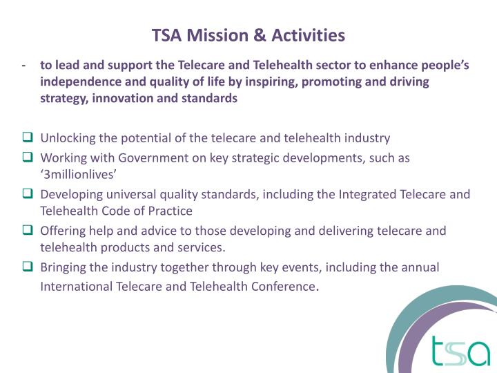 TSA Mission & Activities