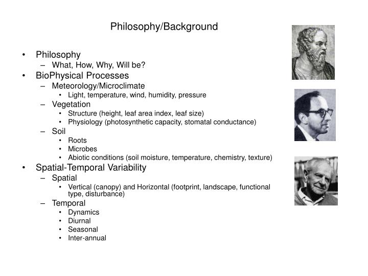 Philosophy background