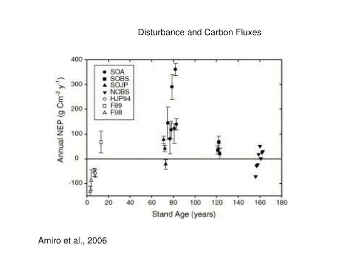 Disturbance and Carbon Fluxes