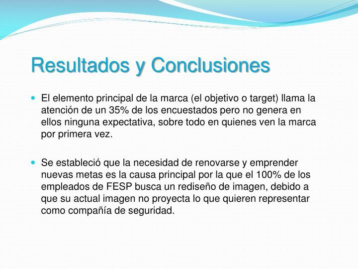 Resultados y Conclusiones