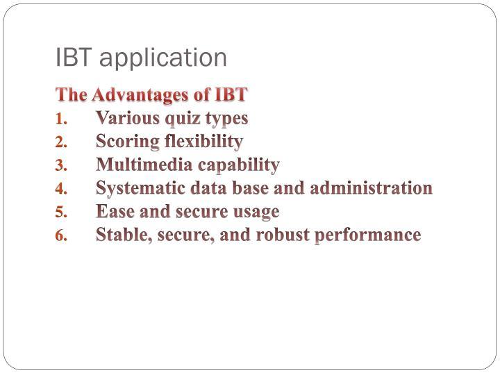 IBT application