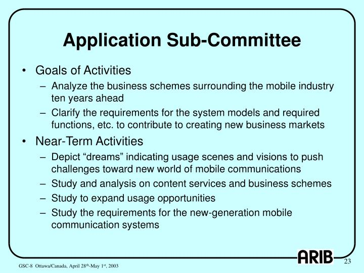 Application Sub-Committee
