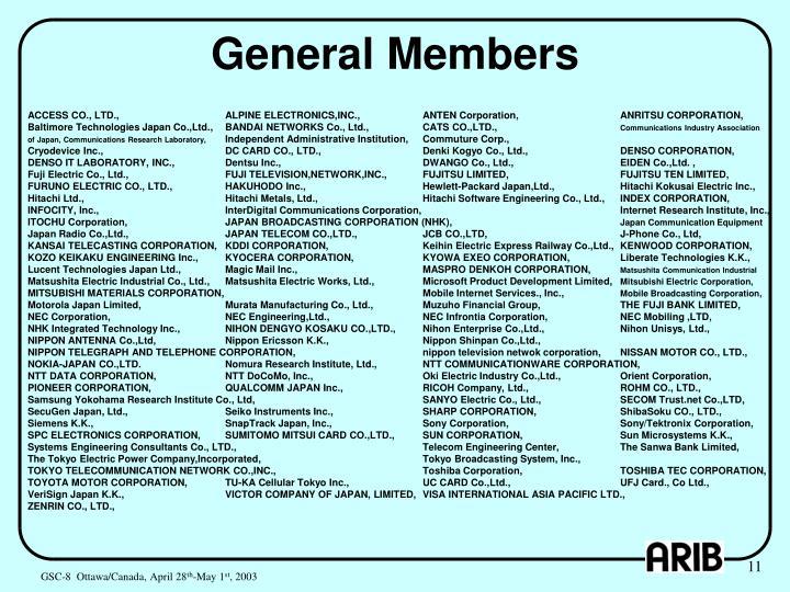 General Members