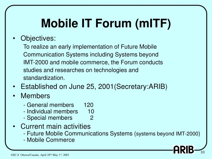 Mobile IT Forum (mITF)