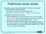 preliminary study results