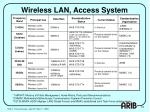 wireless lan access system