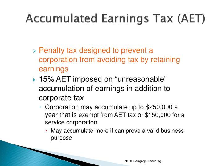 Accumulated Earnings Tax (AET)