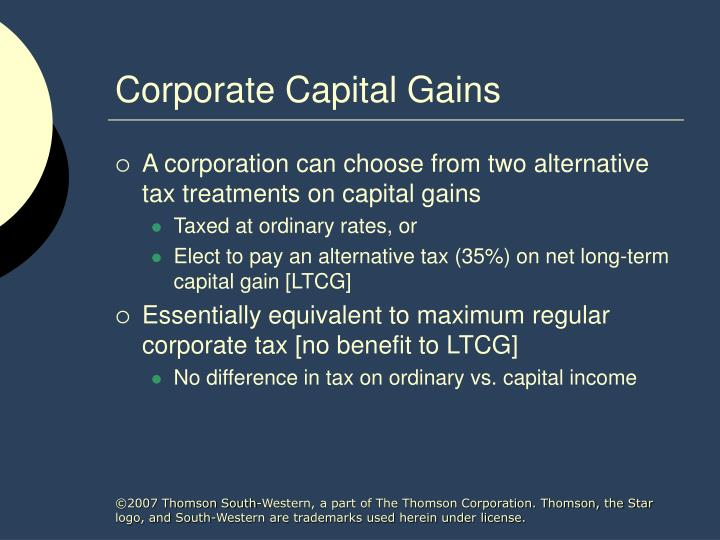 Corporate capital gains