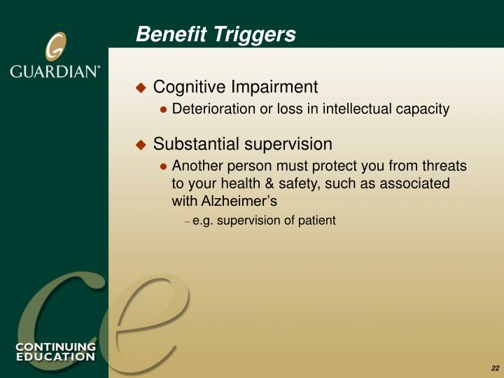 Benefit Triggers