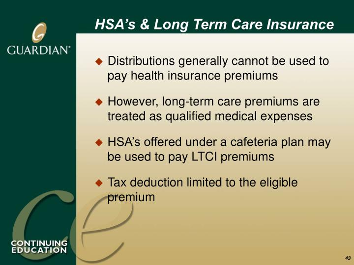 HSA's & Long Term Care Insurance