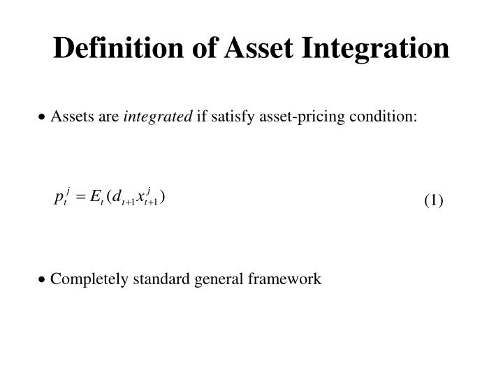 Definition of Asset Integration