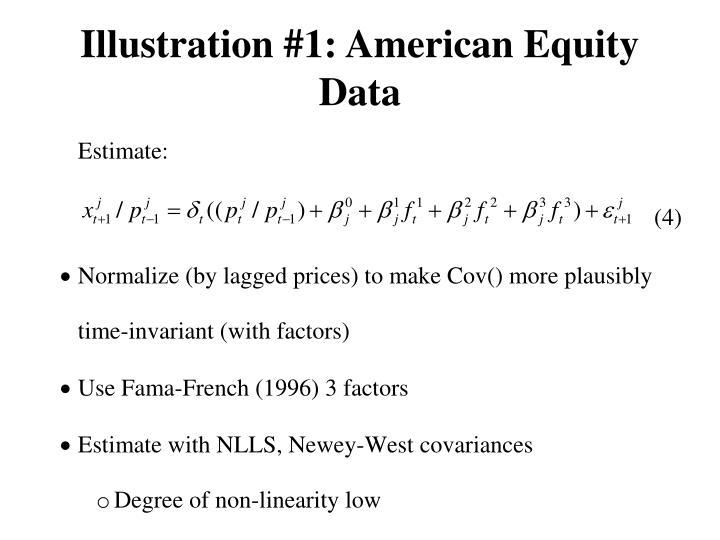 Illustration #1: American Equity Data