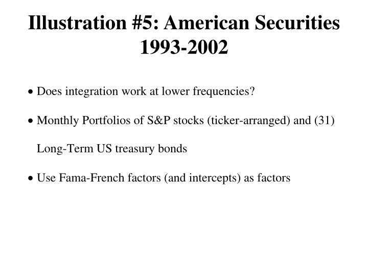 Illustration #5: American Securities 1993-2002