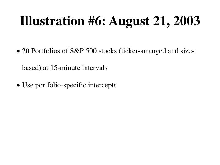 Illustration #6: August 21, 2003
