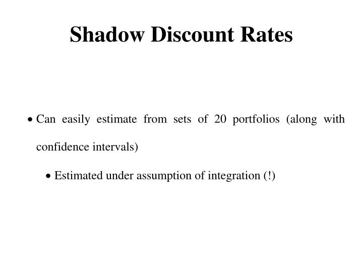 Shadow Discount Rates