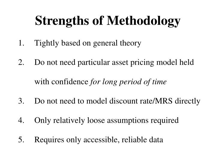 Strengths of Methodology