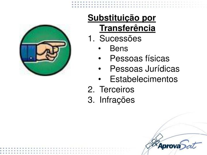 Substituição por Transferência